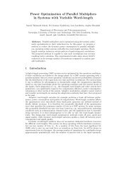 Power Optimization of Parallel Multipliers in Systems with ... - NTNU