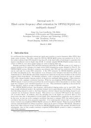Internal note 9: Blind carrier frequency offset estimation for ... - NTNU