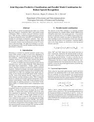 Joint Bayesian Predictive Classification and Parallel Model ... - NTNU