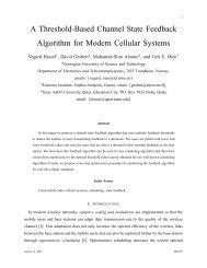 A Threshold-Based Channel State Feedback Algorithm for ... - NTNU