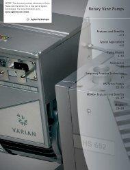 Rotary Vane Pumps Varian, Inc. Vacuum Technologies