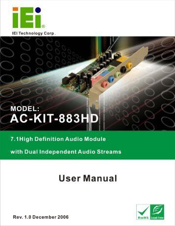 AC-KIT-883HD Audio Module - iEi
