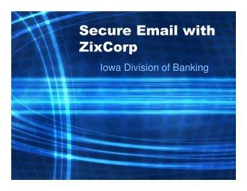Download IDOB Presentation on ZixDirect and Zix Portal
