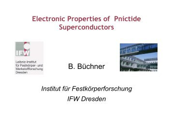 Electronic properties of pnictide superconductors - ICMR ...