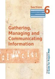 Section 6. Gathering, Managing and Communicating ... - IFAD