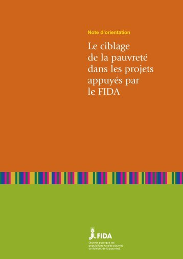 Le ciblage de la pauvreté dans les projets appuyés par le FIDA - IFAD