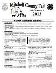 2013 Mitchell County Fair Premium & Rule Book - Iowa State ...