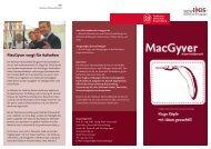MacGyver sorgt für Aufsehen - Institut für Dynamik und ...