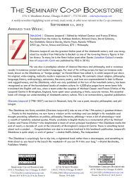 Week of September 11 - Seminary Co-op Bookstores, Inc.