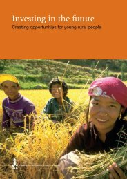 Promoting livelihood opportunities for rural youth - IFAD