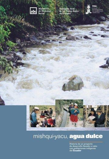 mishqui-yacu, agua dulce - IFAD