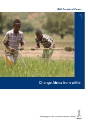 Change Africa from within - IFAD