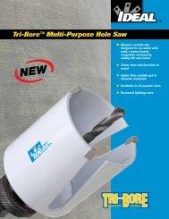 Tri-Bore™ Multi-Purpose Hole Saw - Ideal Industries Inc.