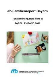 ifb-Familienreport Bayern - Tabellenband 2010 - ifb - Bayern