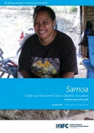 Samoa Gender and Investment Climate Reform Assessment - IFC