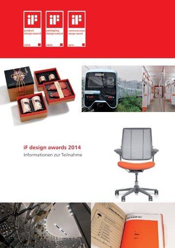 Informationen zur Teilnahme an den iF design awards 2014