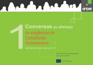 As Exigências do Compliance Assessment - Instituto Financeiro ...