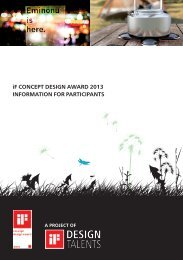 iF CONCEPT DESIGN AWARD 2013 INFORMATION FOR ...