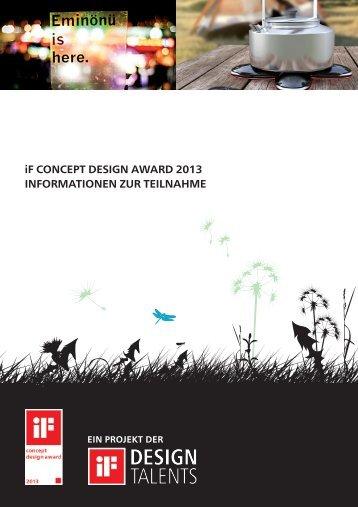 Teilnahmebedingungen - iF - International Forum Design Hannover
