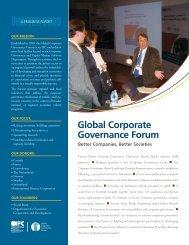 Forum Progress Report: Winter 2008 - IFC