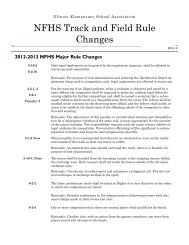 NFHS Track and Field Rule Changes - Illinois Elementary School ...