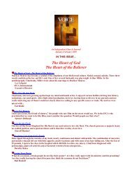The Heart of God The Heart of the Believer