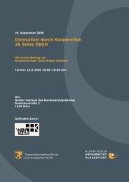 Innovation durch Kooperation 25 Jahre OEGD - Fakultät für ...
