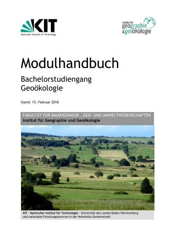 Modulhandbuch Stand: 15.02.2010 zum Download - Institut für ...