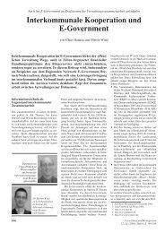 Interkommunale Kooperation und E-Government - ifib