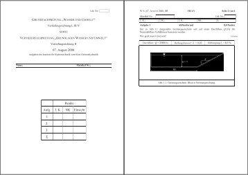 07. August 2008 Punkte Aufg. 3. K. NK Einsicht 1. 2. 3. Σ - IfH