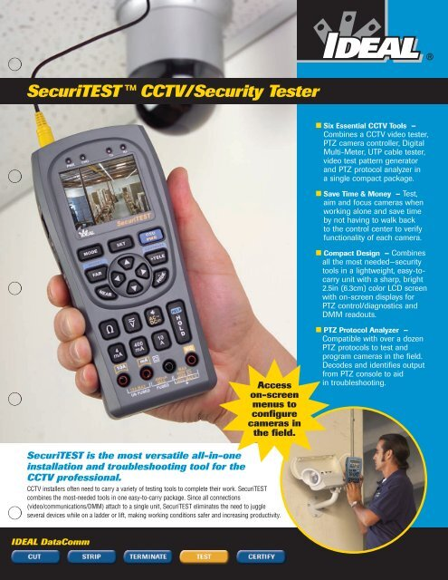 SecuriTEST ™ CCTV/Security Tester - Ideal Industries Inc.