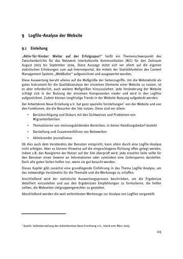 9 Logfile-Analyse der Website - ifib