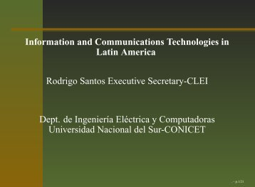 Information and Communication Technologies in Latin America - IFIP