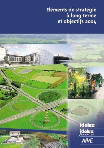 Eléments de stratégie à long terme (PDF) - Idelux