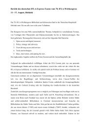 Bericht des IFLA-Express Teams 2012 - Die IFLA in Deutschland
