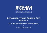 Sustainability and Organic Best Practice - ifoam