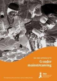 An IFAD Approach to Gender Mainstreaming