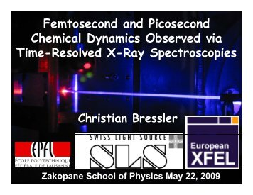 Femtosecond and picosecond chemical dynamics observed via time ...