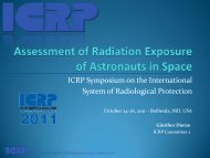 Assessment of Radiation Exposure to Astronauts in Space - ICRP