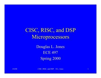 CISC, RISC, and DSP Microprocessors