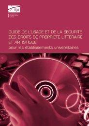 GUIDE DE L'USAGE ET DE LA SECURITE DES DROITS DE ... - IFPI