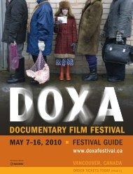 Download the Festival Program Guide - 2010 Festival - DOXA ...