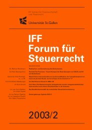 2003/2 IFF Forum für Steuerrecht - IFF - Universität St.Gallen