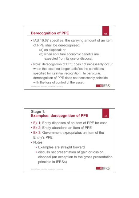 Derecognition of PPE 107
