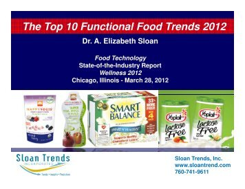 The Top 10 Functional Food Trends 2012 - Institute of Food ...