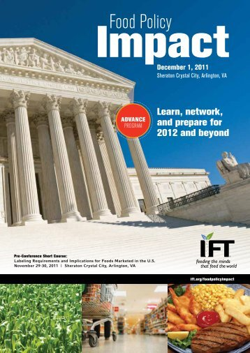 Food Policy Impact - Institute of Food Technologists