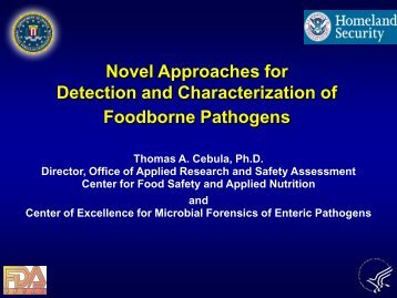 Novel Approaches for Detection and Characterization of Foodborne ...