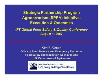 Strategic Partnership Program Agroterrorism (SPPA) Initiative ...