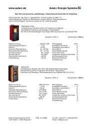 Preisreduziert, ab 992 - Autarc Energie Systeme GmbH