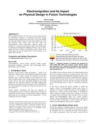 Electromigration and Its Impact on Physical Design in Future ...